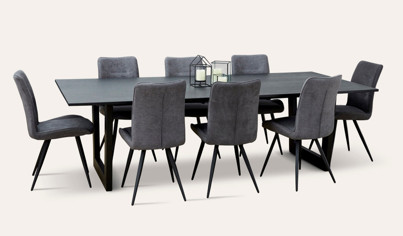 Naples hardwood dining suite with Narla chairs
