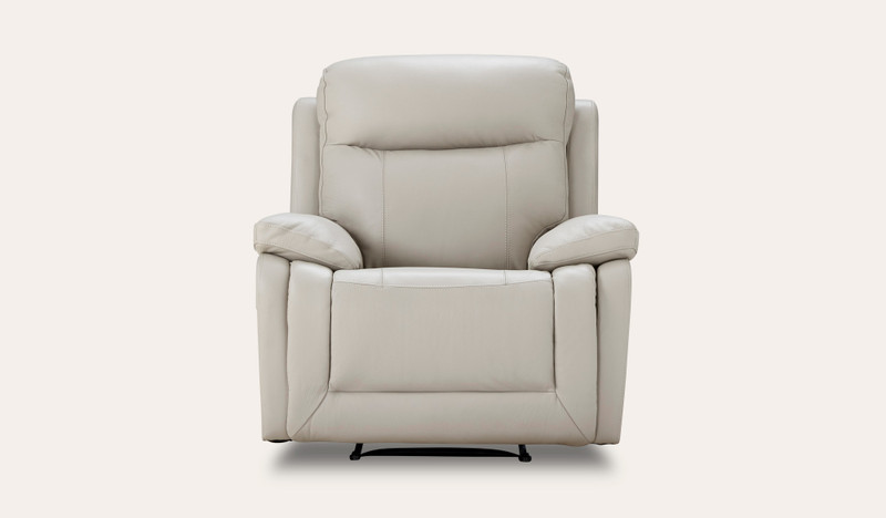 Piazza leather recliner
