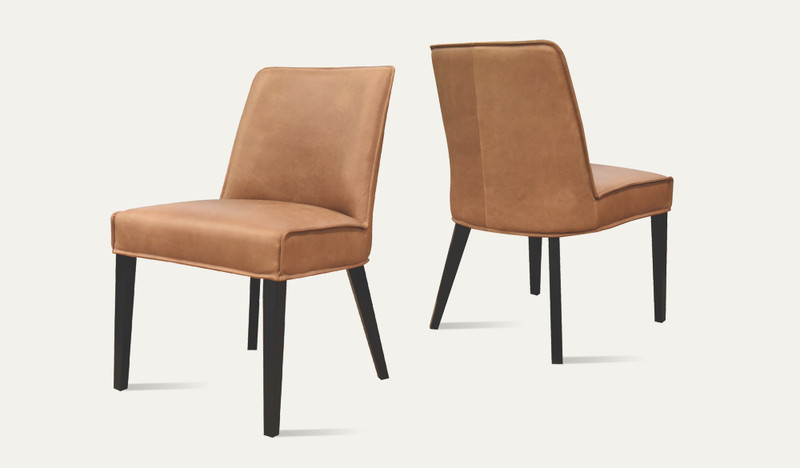 Davey leather dining chair