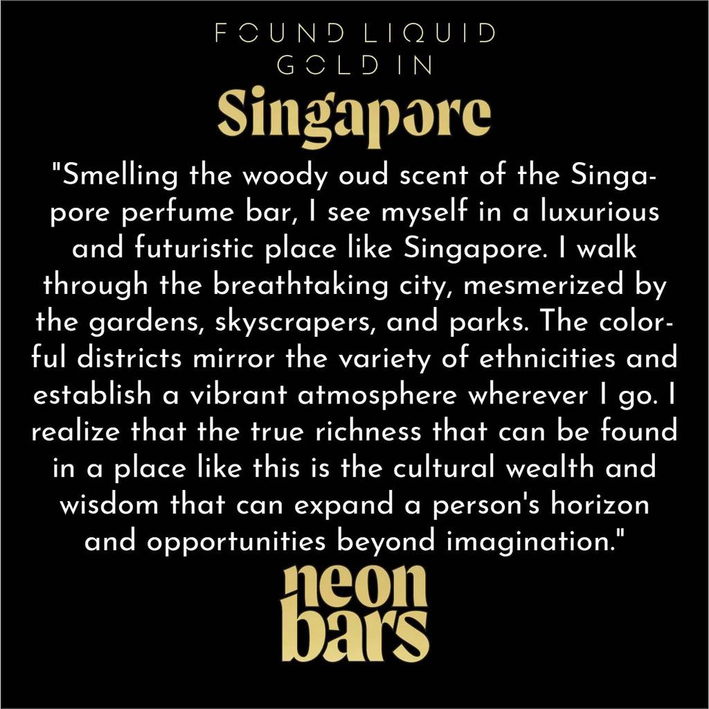 found liquid gold in Singapore