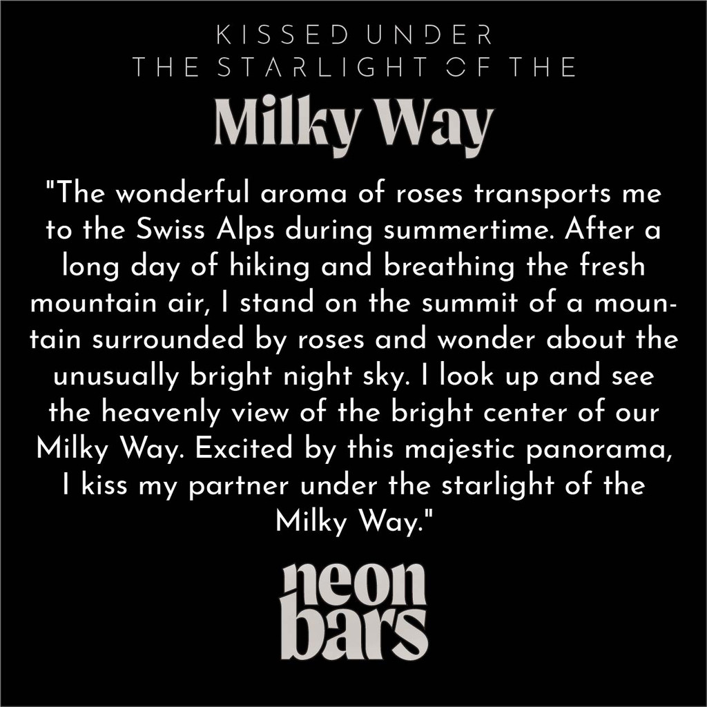 kissed under the starlight of the Milky Way