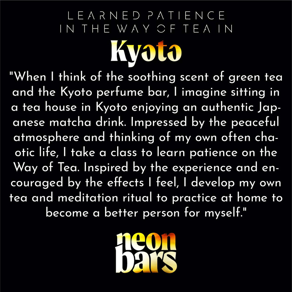 learned patience on the Way of Tea in Kyoto