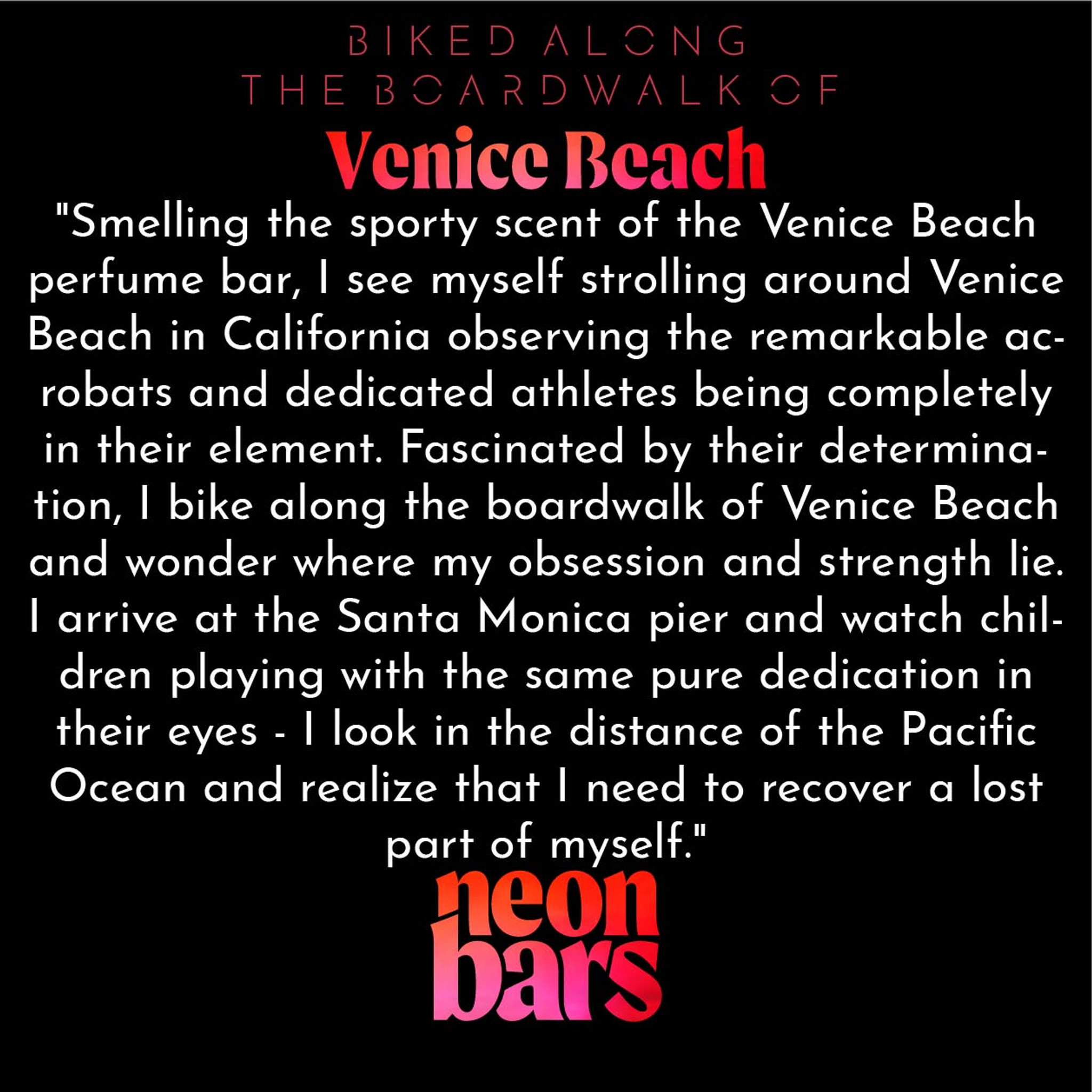 biked along the boardwalk of Venice Beach