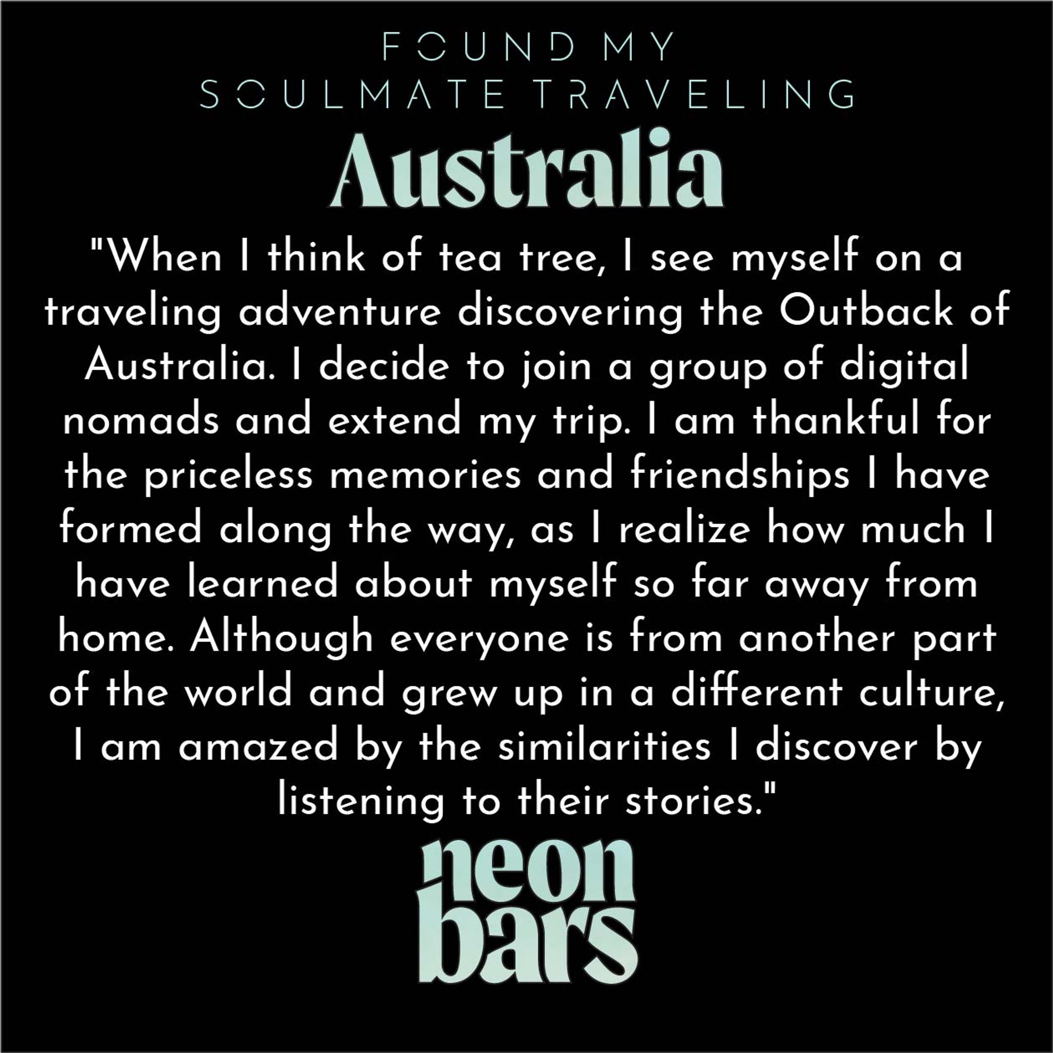 found my soulmate traveling Australia