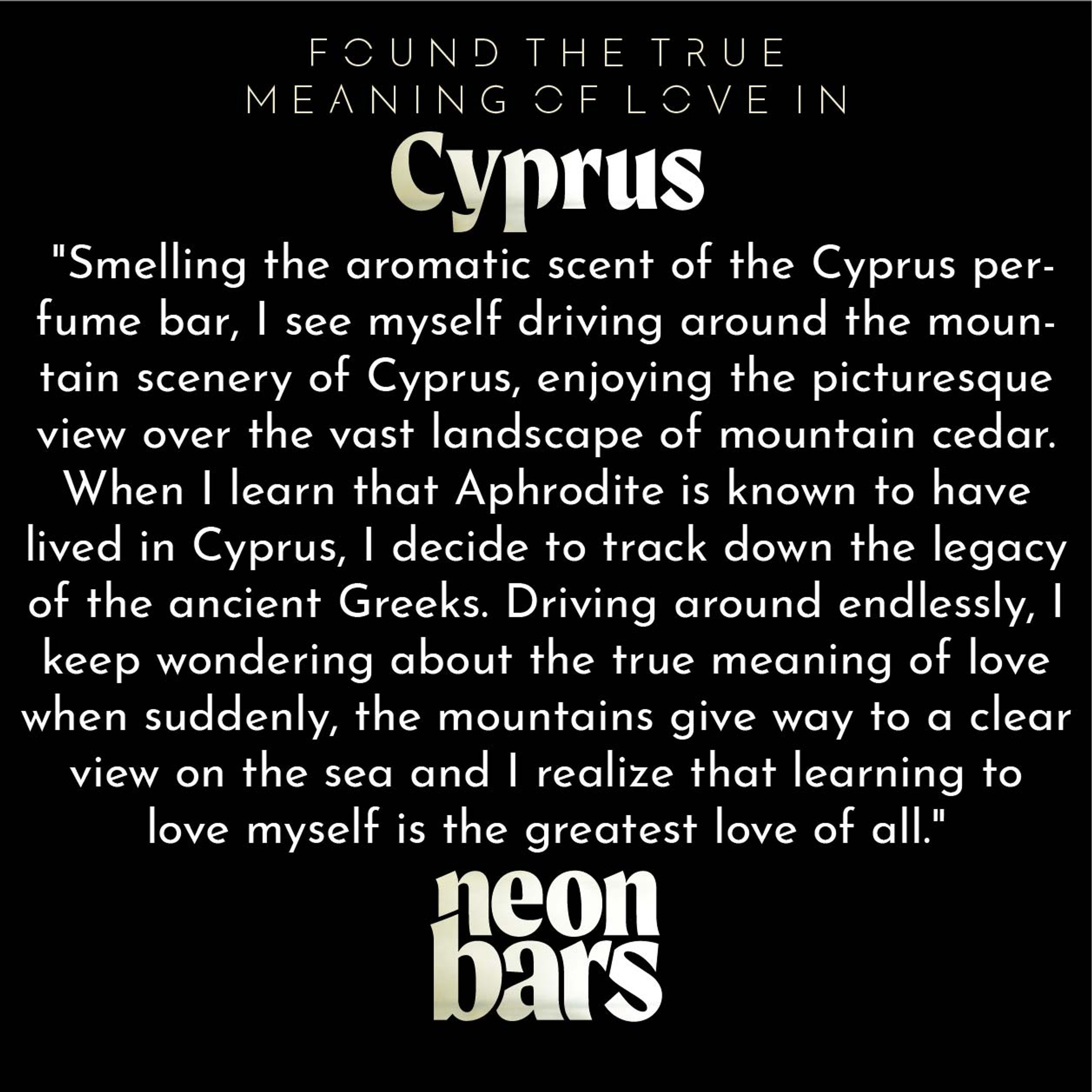 found the true meaning of love in Cyprus