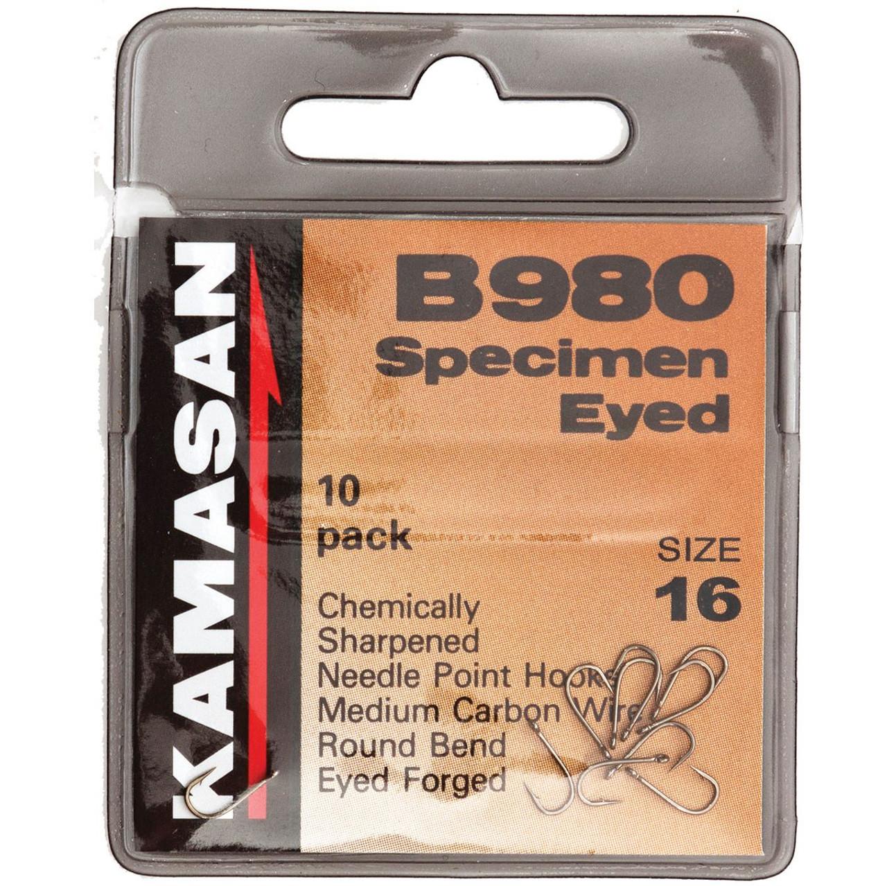 KAMASAN B980 SPECIMEN BARBED EYED HOOKS FREE P/&P
