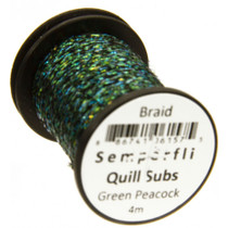 Semperfli Quill Subs. Flat Braid Green Peacock