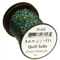 Semperfli Quill Subs. Flat Braid Green Peacock
