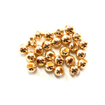 Fulling Mill Slotted Tungsten Beads Gold