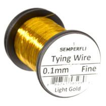 Semperfli Ultrafine Tying Wire Light Gold
