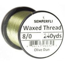 Semperfli Classic Waxed Thread 8/0 Olive Dun
