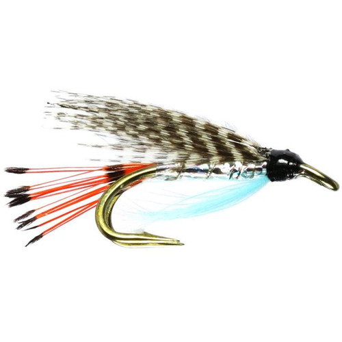 Teal Blue & Silver Trout Double