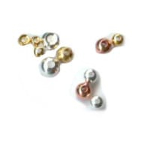 Gold , Silver and Copper brass beads available in five sizes