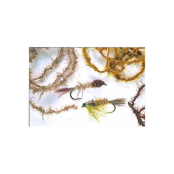 fly tying Soft Twisted Dubbing for Fly Tying Hares ear twisted on a thread