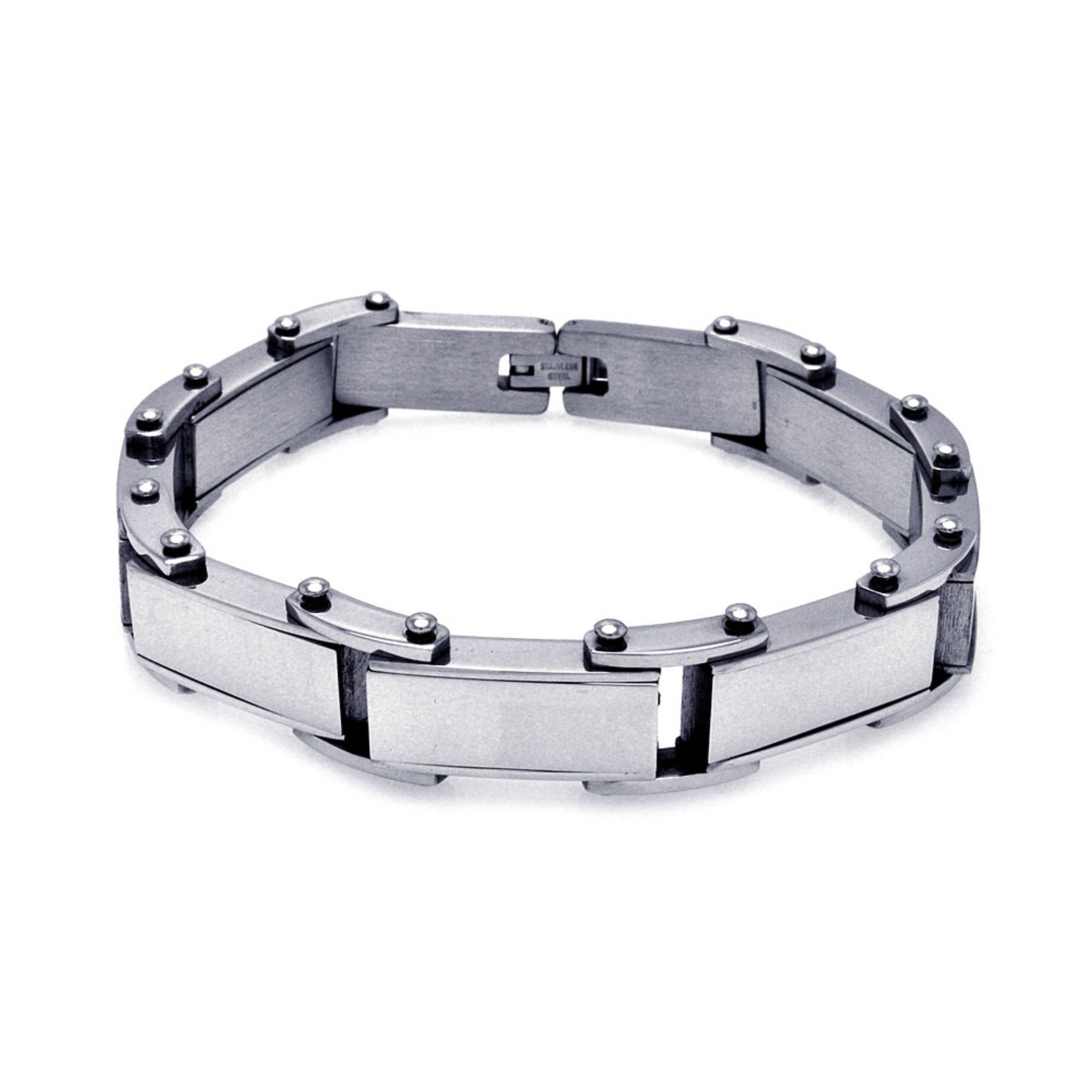 Stainless Steel Bike Chaing Design Bracelet