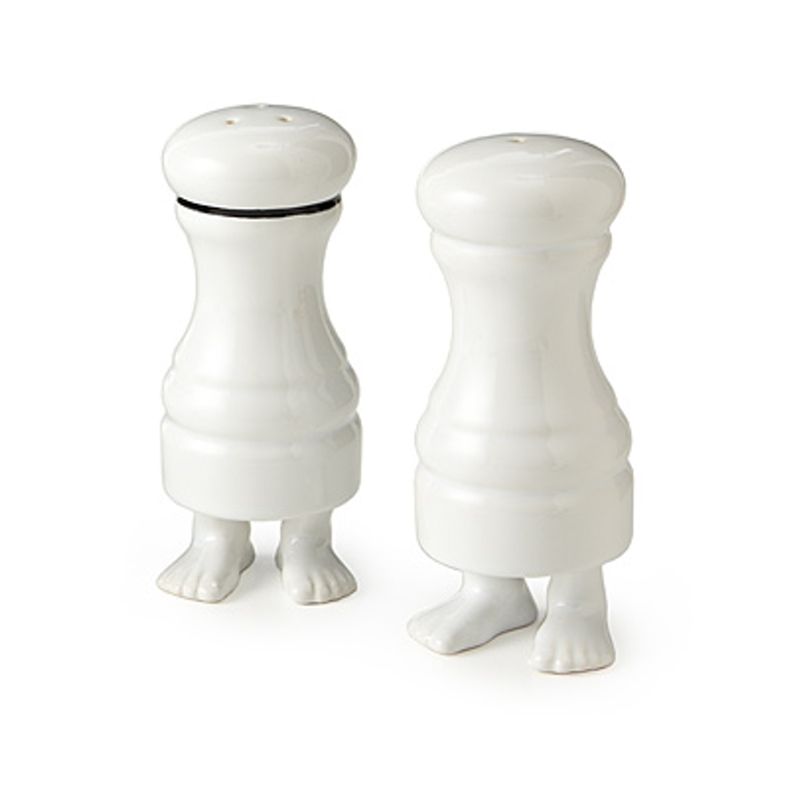 Footed Salt And Pepper Shakers