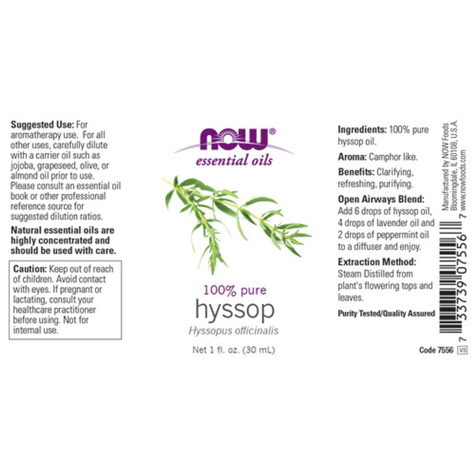 Now Foods Hyssop Product Description