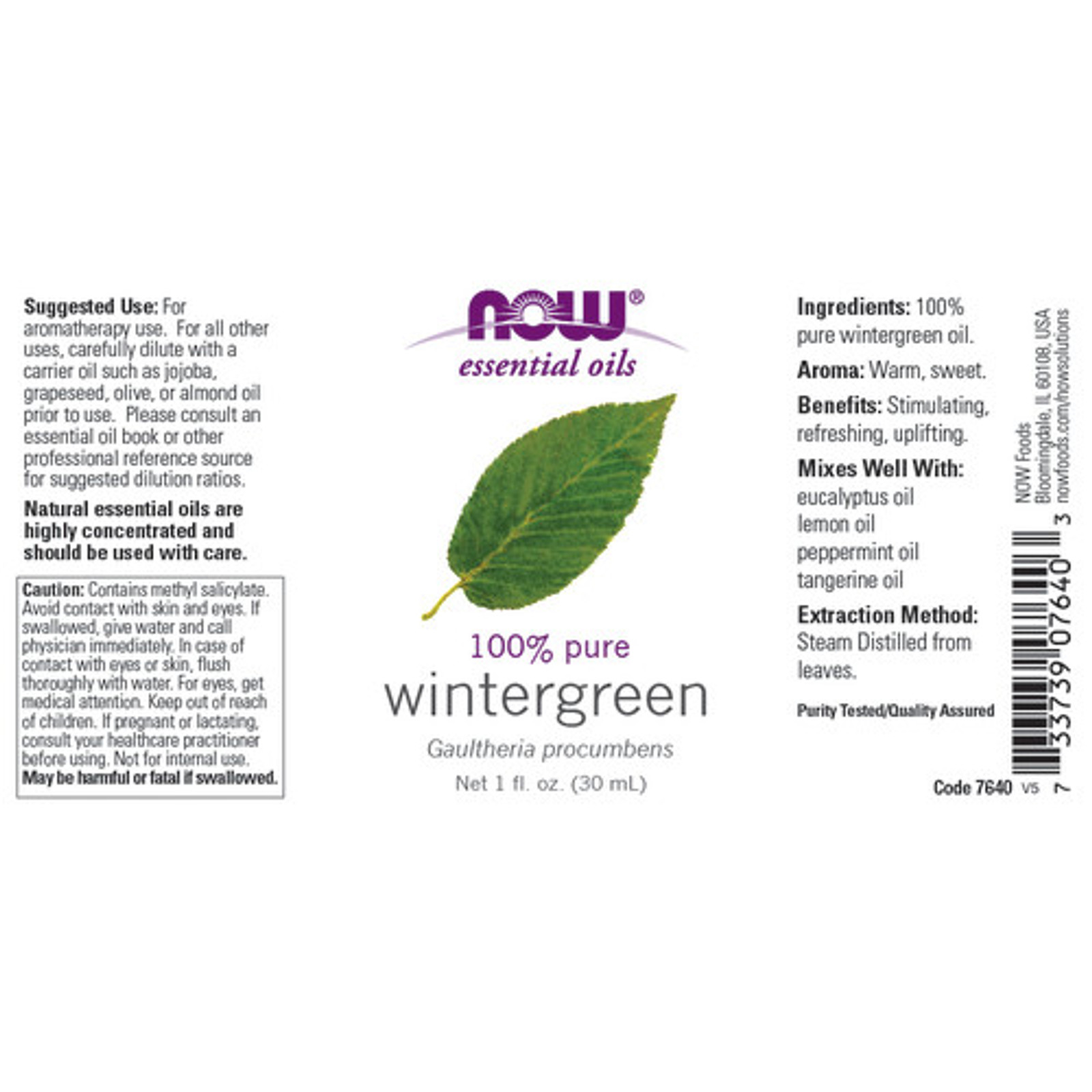 Now Foods 100% pure Wintergreen essential oil