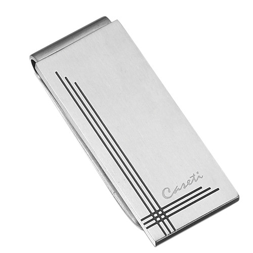 Caseti Gatsby Brushed Stainless Steel Money Clip