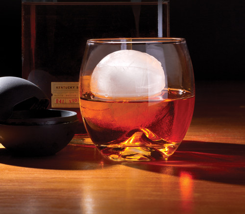 Whisky Glass with Ice Ball Maker - 15 Ounce Case Pack 12