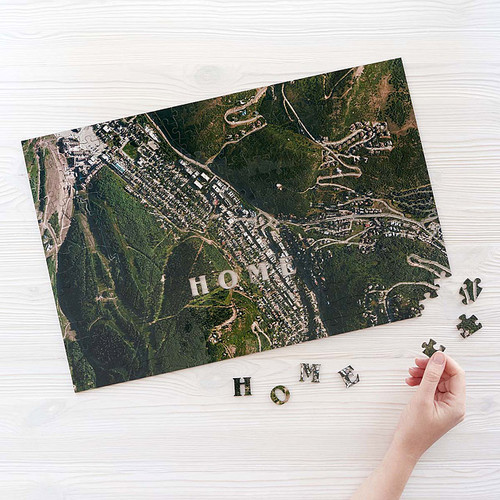 Custom Satellite Map Puzzle