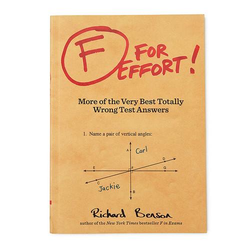 F For Effort Book