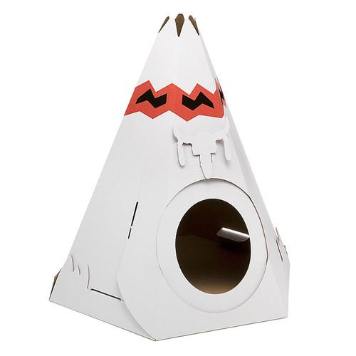 Cardboard Cat Teepee