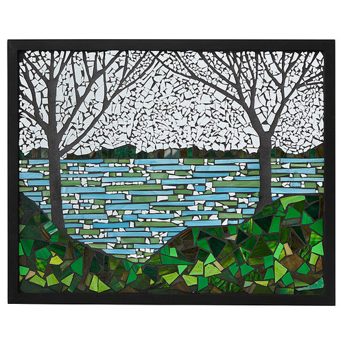 Lakeside Stained Glass Panel