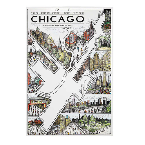 Chicago Marathon Map