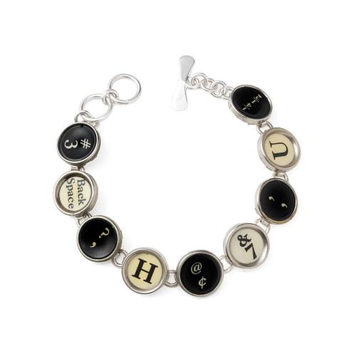 9 Key Typewriter Bracelet