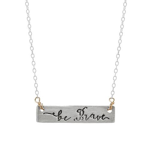 Be Brave Arrow Reversible Necklace