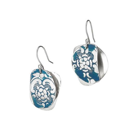 Embossed Patina Earrings