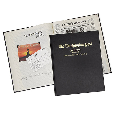 The Washington Post Custom Birthday Book