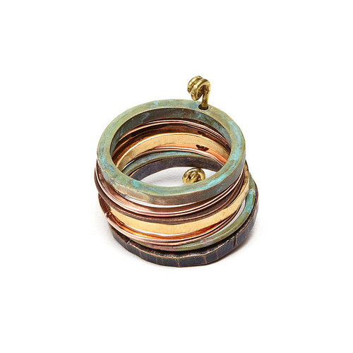Mixed Metals Gold Ring