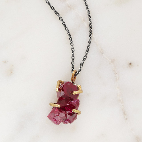 Ruby Crystal Talisman Pendant