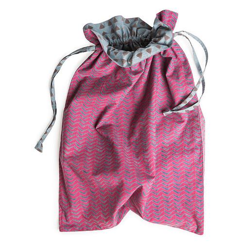 Block Print Travel Laundry Bag