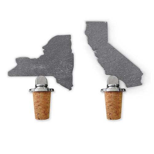 State Slate Bottle Stopper