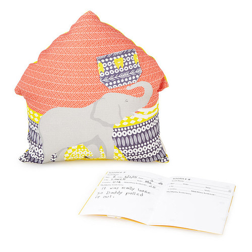 Elephant Tooth Fairy Pillow And Journal Set