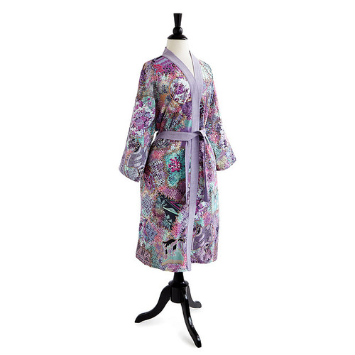 Floral Batik Kimono Robe