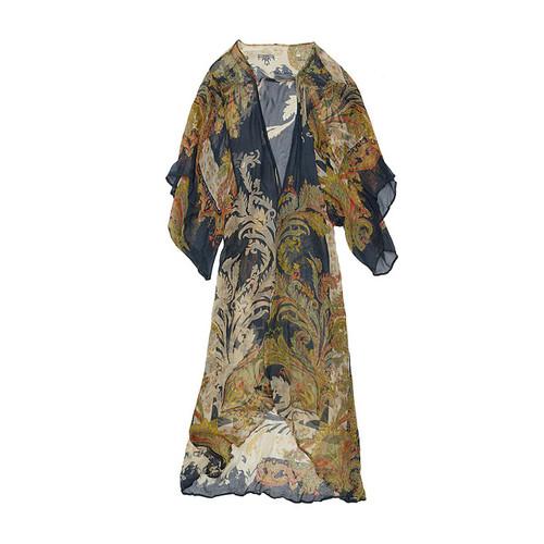 Long Sheer Loungewear Kimono