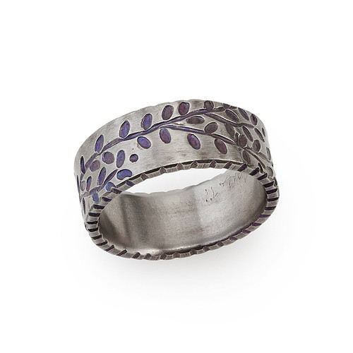 Titanium Vines Ring