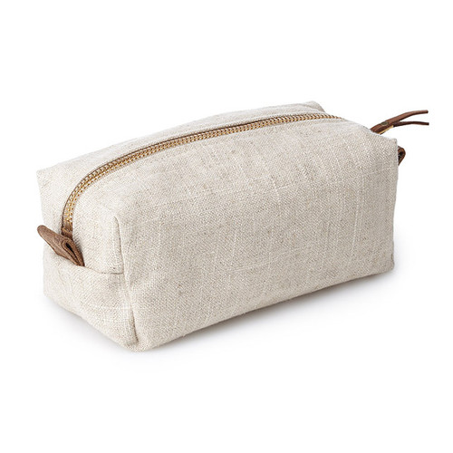 Small Linen Cosmetic Bag