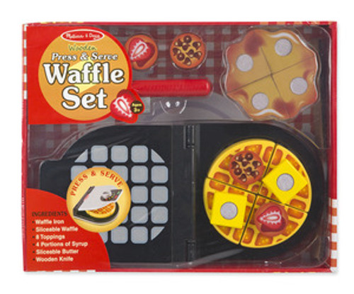 Wooden Press & Serve Waffle Set