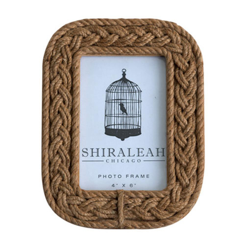 "4"" X 6"" Braided Rope Picture Frame"