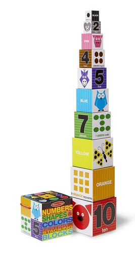 Nesting & Stacking Blocks - Numbers Shapes Colors
