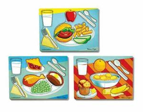 Breakfast Lunch & Dinner Puzzle Set