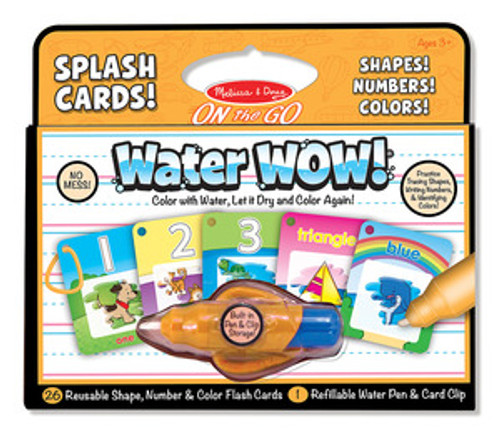 Water WOW! Number Color Shape Cards - ON the GO Travel Activity