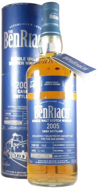BenRiach Oak Barrel Exclusive 2005 14-Year-Old Single Cask #1868