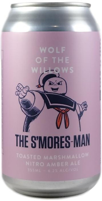Wolf Of The Willows  The S'mores-Man - Toasted Marshmallow Nitro Amber Ale