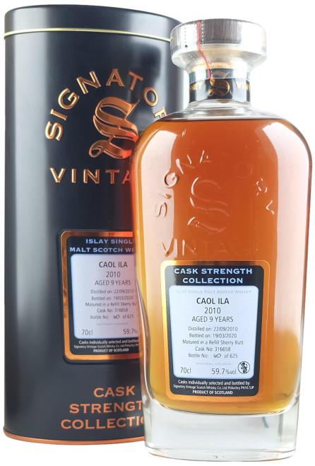 Signatory Vintage Caol Ila 2010 9-Year-Old Single Cask Scotch Whisky
